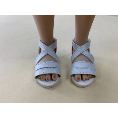 Sandales blanches pour Fashion Friends Ruby Red
