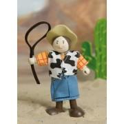 La Femme Cowboy Annie en bois
