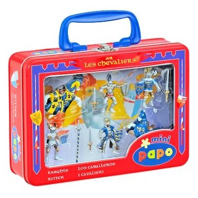 Mini Chevaliers et chevaux bleus Papo