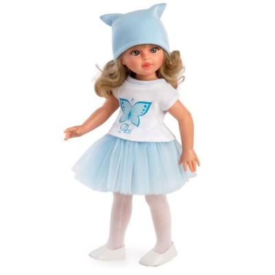 Poupée Sabrina blonde Jupe tulle bleu - Asivil