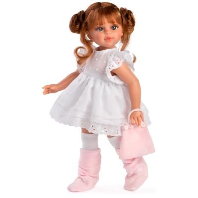 Poupée Sabrina rousse Robe blanche - Asivil