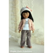 Tenue Izïa pour poupée Boneka - Magda Dolls Creations