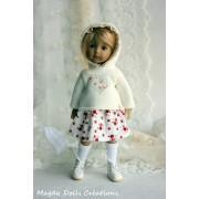 Tenue Léonore pour poupée Boneka - Magda Dolls Creations