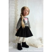 Tenue Ariane pour Poupée Zwergnase 50 Cm - Magda Dolls Creations