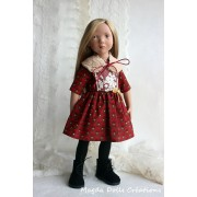Tenue Dulcia pour Poupée Zwergnase 50 Cm - Magda Dolls Creations