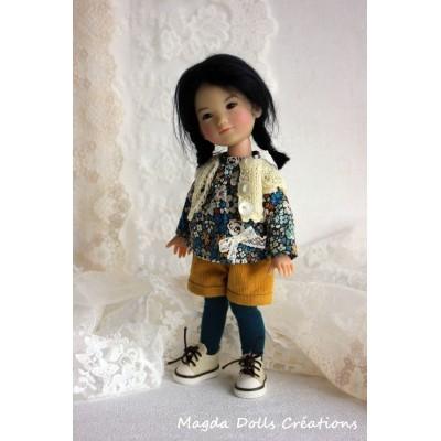 Tenue Ania pour poupée Ten Ping - Magda Dolls Creations