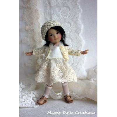 Tenue Célestine pour poupée Ten Ping - Magda Dolls Creations