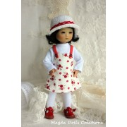 Tenue Félicie pour poupée Ten Ping - Magda Dolls Creations