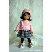 Tenue Joannie pour poupée Ten Ping - Magda Dolls Creations