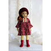 Ensemble Georgia pour Poupée Little Darling - Magda Dolls Creations