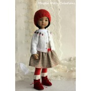 Ensemble Rosanne pour Poupée Little Darling - Magda Dolls Creations