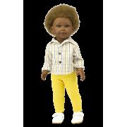 Poupée Garçon Prince pantalon jaune et Chemise - Vestida de Azul