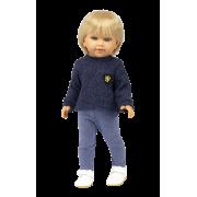 Poupée Garçon David Jeans et Pull bleu - Vestida de Azul