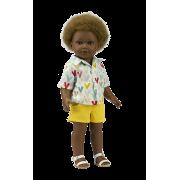 Poupée Garçon Prince Short jaune et Chemise - Vestida de Azul