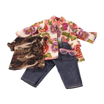 Ensemble Veste et Jeans Garden Rose pour Poupée 45-50 Cm - Götz
