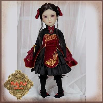 Ensemble Rouge et Noir poupée Girls of the Orient 36 Cm - Ruby Red