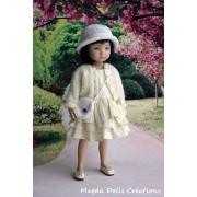 Ensemble Celestyna pour Poupée Little Darling - Magda Dolls Creations