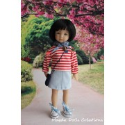 Ensemble Iga pour Poupée Little Darling - Magda Dolls Creations