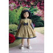 Ensemble Jadwiga pour Poupée Little Darling - Magda Dolls Creations