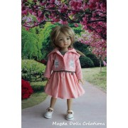 Ensemble Justyna pour Poupée Little Darling - Magda Dolls Creations
