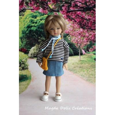 Ensemble Malwina pour Poupée Little Darling - Magda Dolls Creations