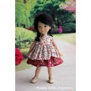 Tenue Joanna pour poupée Ten Ping - Magda Dolls Creations