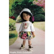 Tenue Martyna pour poupée Ten Ping - Magda Dolls Creations