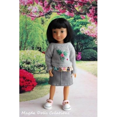 Tenue Jola pour poupée Siblies - Magda Dolls Creatins