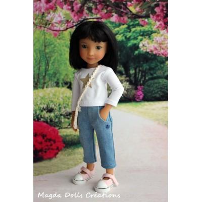 Tenue Oliwia pour poupée Siblies - Magda Dolls Creations