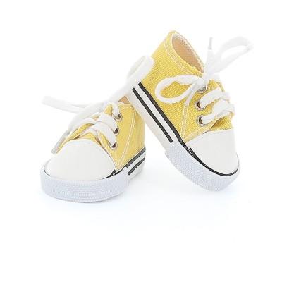 Baskets jaunes à lacets pour poupée Finouche - Petit Collin