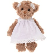 Peluche Ours Hedvig Robe blanche 25 cm - Bukowski