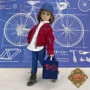 Ensemble Veste rouge et Jeans pour poupée Rubyred 30 Cm