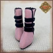 Chaussures bottes noires et roses pour InMotion Girls 30 cm