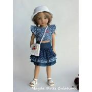 Ensemble Alison pour Poupée Little Darling - Magda Dolls Creations
