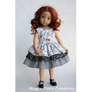 Ensemble Naomi pour Poupée Little Darling - Magda Dolls Creations