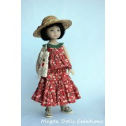 Ensemble Rachel pour Poupée Little Darling - Magda Dolls Creations