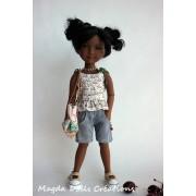 Tenue Lysette pour Poupée Fashion Friends 36 Cm - Magda Dolls Creations