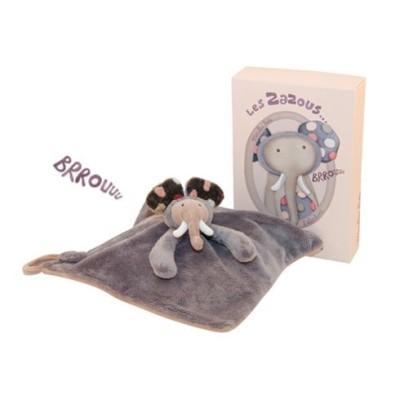 Doudou éléphant Les Zazous