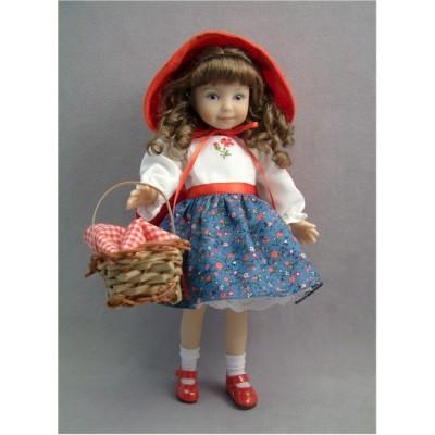 Mari habillée en Petit Chaperon Rouge
