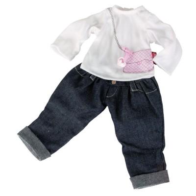 Jeans et Tee-Shirt pour Poupée 42-50 Cm