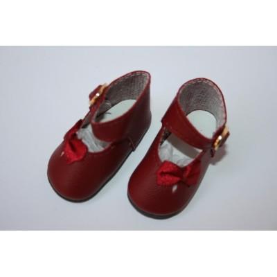 Chaussures rouge bordeaux pour Little Darling