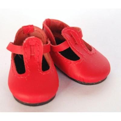 Chaussures rouges T-Strap pour Boneka