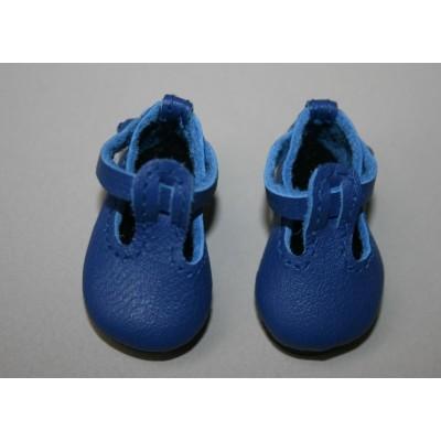 Chaussures bleues T-Strap pour Boneka
