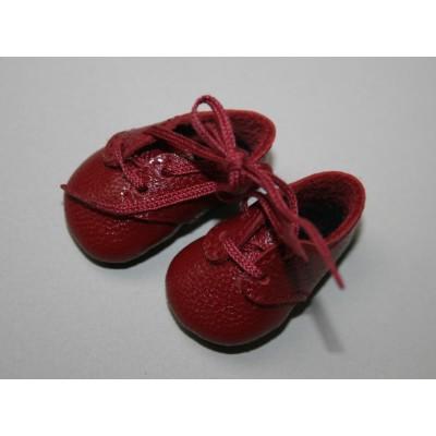 Chaussures bordeaux à lacets pour Boneka