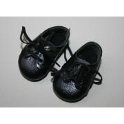 Chaussures noires à lacets pour Boneka