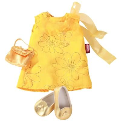 Set Robe jaune avec chaussures pour Poupée 42-50 Cm