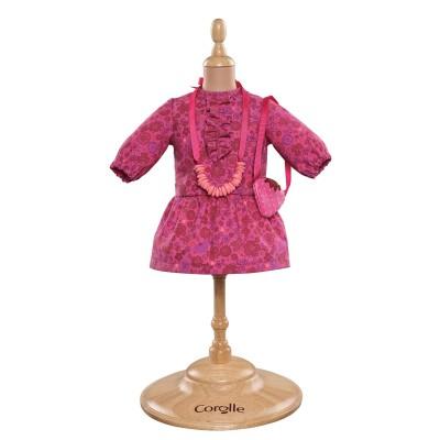 Robe Fleur et accessoires Poupée 36 Cm