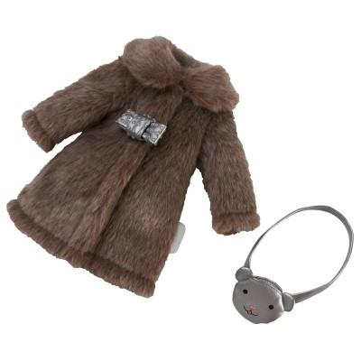 Manteau chic et Sac Poupée Les Chéries 33 Cm