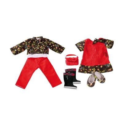Set 11 pièces Robe et pantalon pour Poupée 45-50 Cm