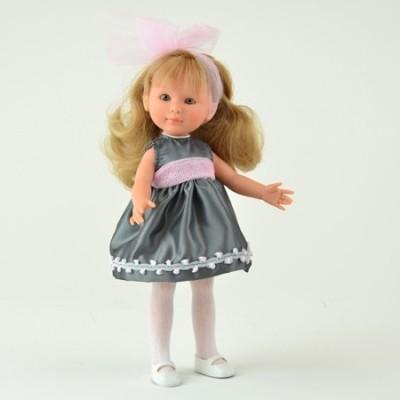Poupée Celia robe grise